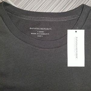 Banana Republic Shirts - Banana Republic Grey Long Sleeve Graphic Tee